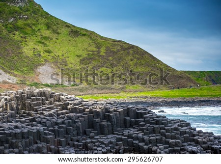 Ocean landscape in Belfast, Northern Ireland, UK - stock photo