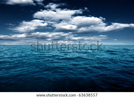 Ocean night - stock photo