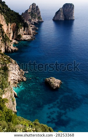 ocean of capri - stock photo