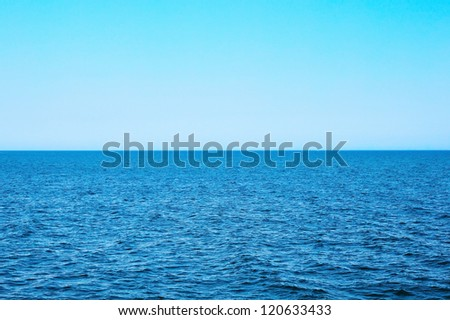 Ocean view in sunny day - stock photo
