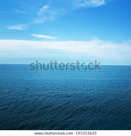 Ocean view in sunny summer day  - stock photo