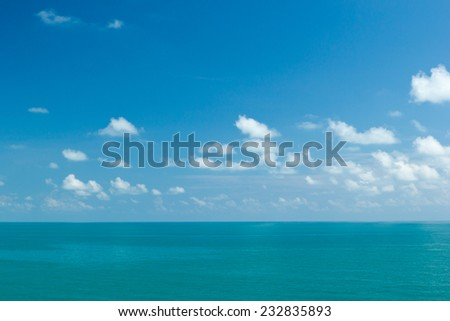 Ocean view with blue sky , Samui island, Thailand - stock photo