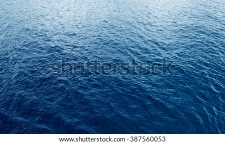 Ocean water background,Blue sea surface with waves - stock photo
