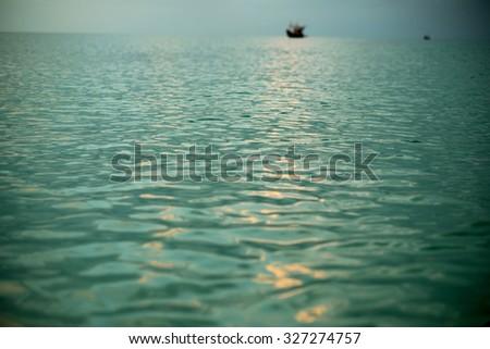 ocean water focus - stock photo