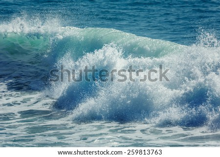Ocean wave crashing - stock photo
