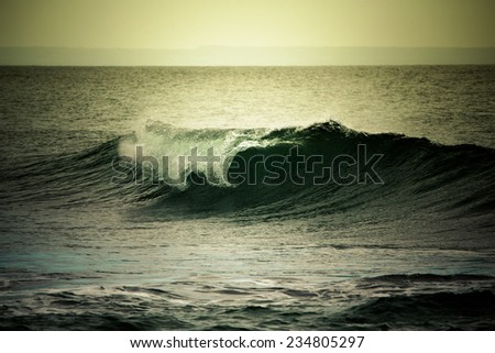 Ocean wave. Tinted - stock photo