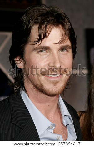 """October 17, 2006. Christian Bale attends the World Premiere of """"The Prestige"""" held at the El Capitan Theatre in Hollywood, California United States.  - stock photo"""