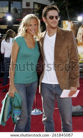 "October 9, 2005 - Erinn Bartlet and Oliver Hudson at the ""Dreamer"" Los Angeles Premiere at the Mann Village Theatre Westwood, California United States.