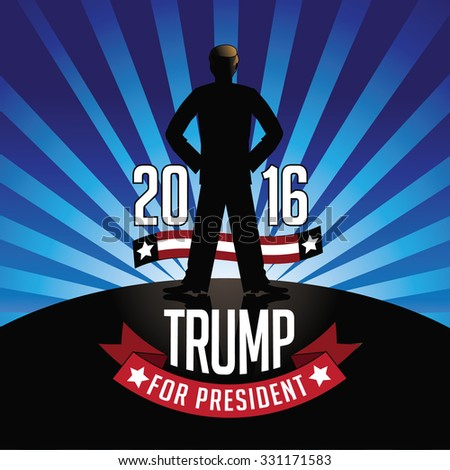 October 25, 2015: Illustration showing Democrat presidential candidate Donald Trump for President 2016. - stock photo