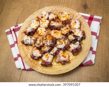 Octopus in Galicia - stock photo