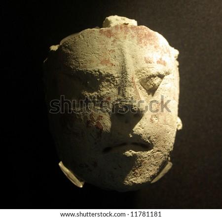 Odd Mayan mask - stock photo