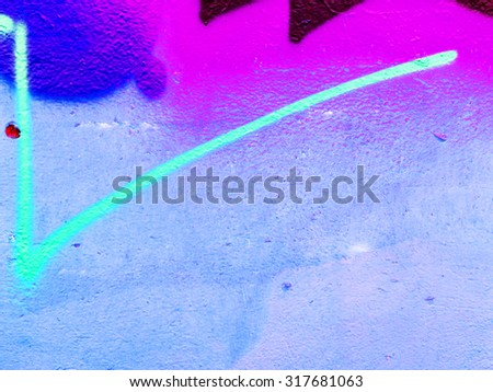 ODESSA - SEPTEMBER 15: Detail of graffiti on the wall of the old building. Grungy concrete surface with cracks, scratches and streaks of paint. September 15, 2015 in Odessa, Ukraine