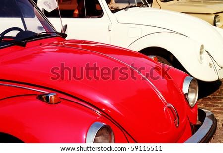 ODESSA,UKRAINE - AUGUST 15: The Volkswagen Beetle on the retro cars show , annual event. August 15,2010. Odessa,Ukraine. - stock photo