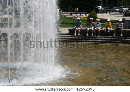 Odori Park, Sapporo City, Japan - stock photo