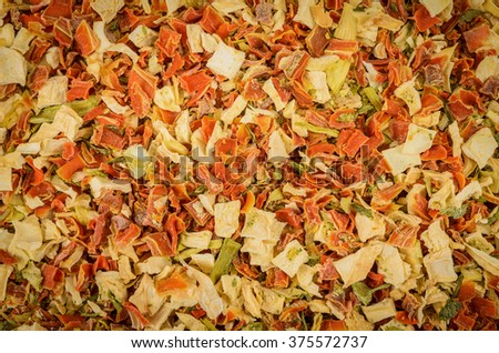 odorous mixture of dry vegetables - stock photo