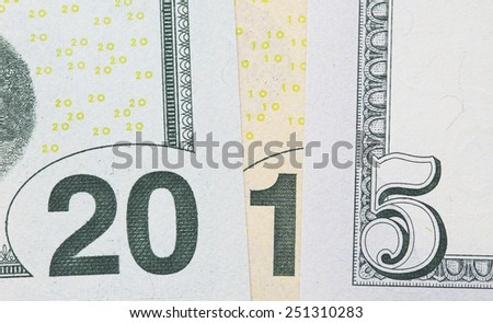of the banknotes with numbers - stock photo