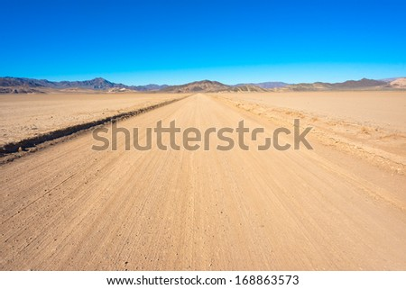Off-road in California close to Death Valley National Park - stock photo