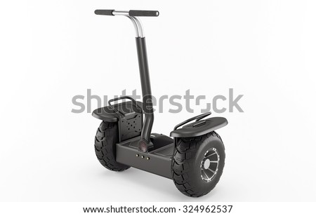 Off-road self-balancing scooter. Alternative transport. - stock photo