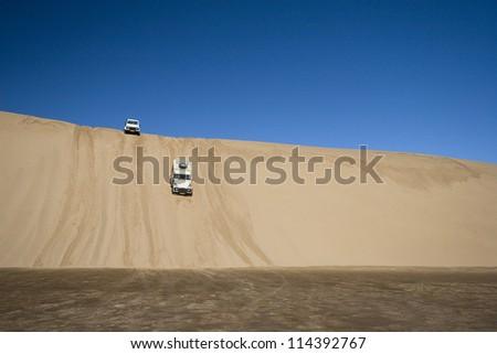 Off Road 4x4 adventure, Namib Desert - stock photo