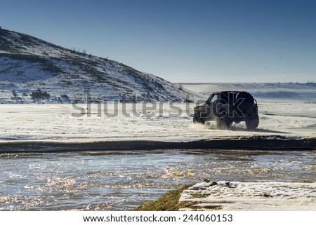 Off rod vehicle - stock photo