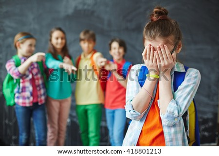 Offended child - stock photo