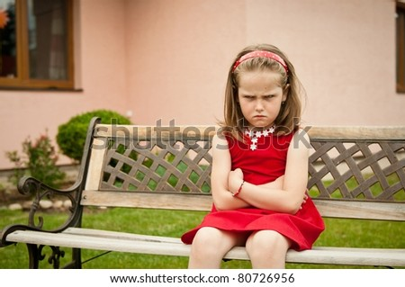 Offended child portrait - stock photo