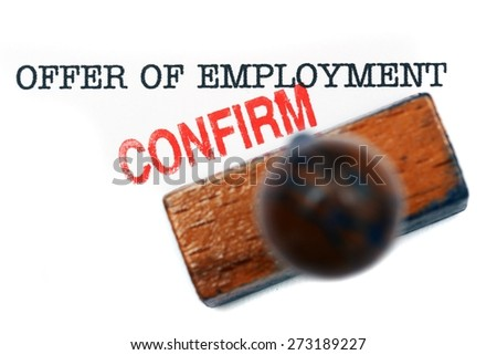 Offer of employment - confirm - stock photo