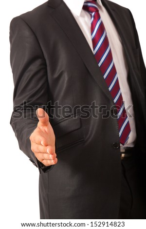 Offering for a handshake - stock photo