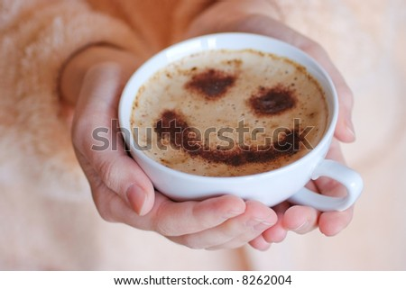 Offering happiness - stock photo