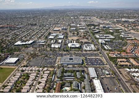 Office and residential area of Phoenix, Arizona - stock photo