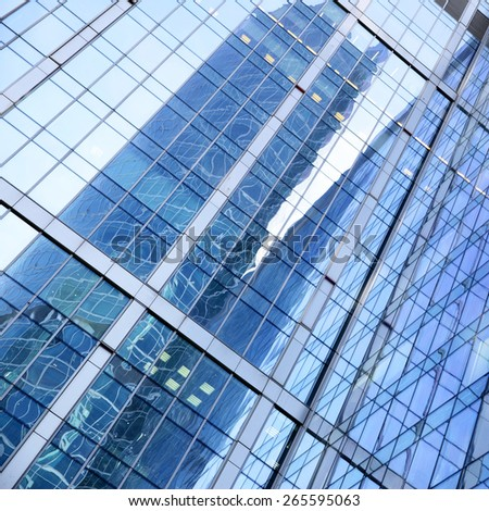 Office building abstract background - stock photo