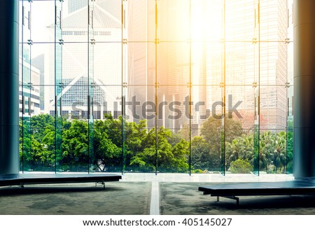 Office building in Hong Kong - stock photo
