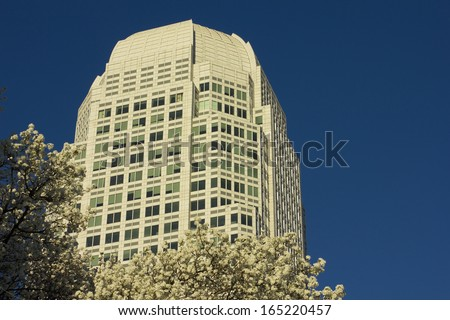 Office building in Winston Salem, North Carolina - stock photo