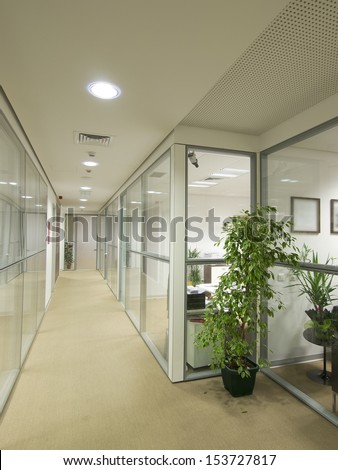 Office building interior - stock photo