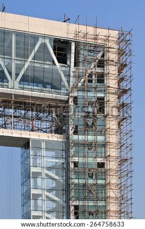 Office building under construction, Weihai, China  - stock photo