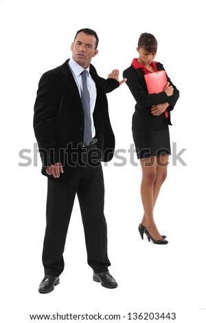 Office bully - stock photo