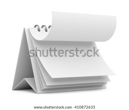 office business calendar. 3D icon isolated - stock photo