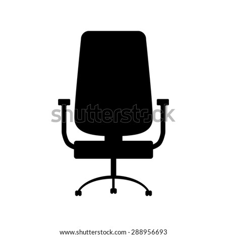 Office chair icon isolated - stock photo