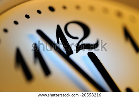 Office clock - stock photo