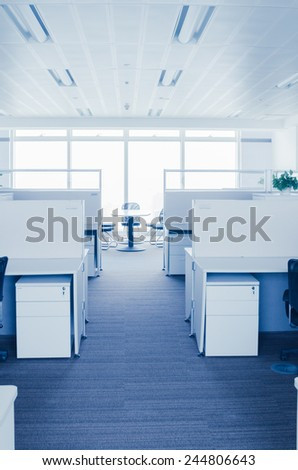 office Corridor,abstract motion blur - stock photo