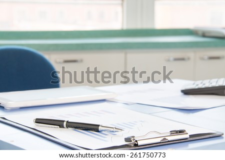 Office financial statements - stock photo
