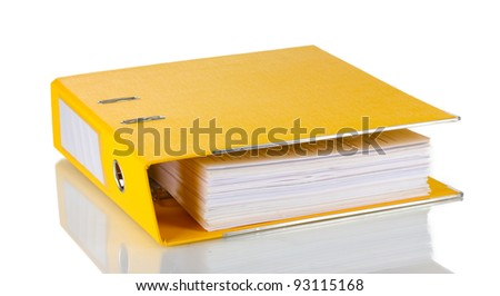 Office folder isolated on white - stock photo