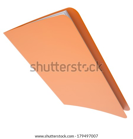 Office folder. Isolated render on a white background - stock photo