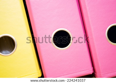 office folders of different colors - stock photo