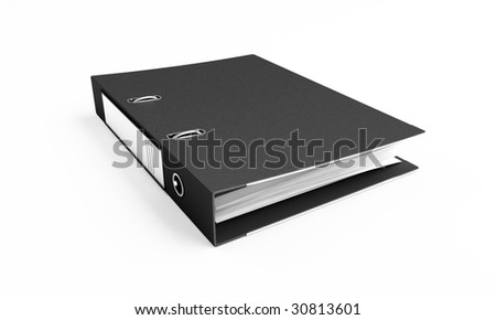 office folders on a white background - stock photo