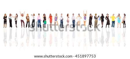 Office Idea Isolated Groups  - stock photo
