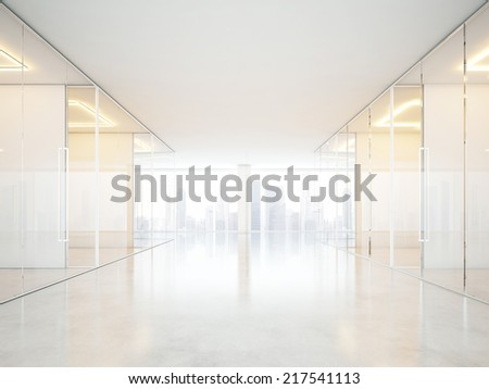 Office interior with empty rooms - stock photo