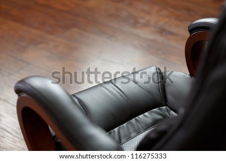 office leather chair - stock photo