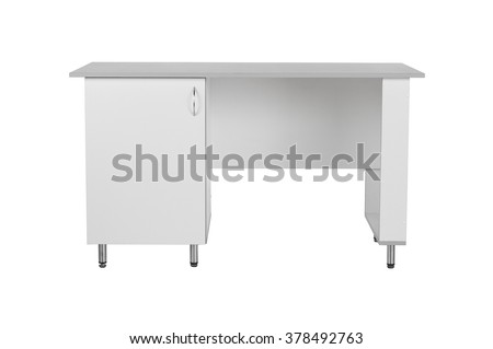 Office medicall table isolated under the white background - stock photo