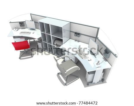 office module - stock photo